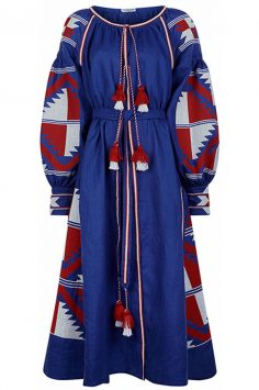FANM-MON-Blue-Linen-Aztec-Embroidered-Dress