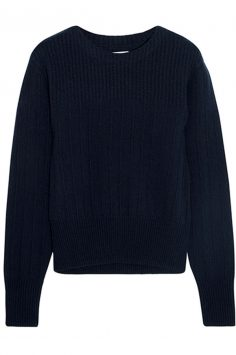 Frame-ribbed-navy-sweater