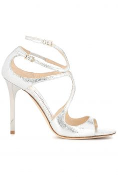 Click to Buy Jimmy Choo Silver Heeled Sandals
