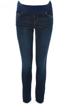 Click to buy Topshop Maternity Raw Hem Jeans online