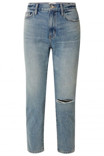 Click to Buy Current/Elliot The Vintage cropped distressed high-rise slim-leg jeans