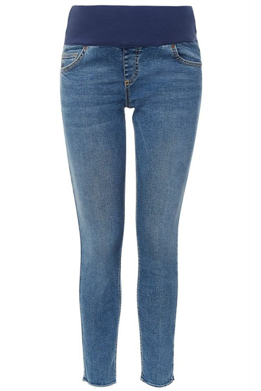 Click to buy Topshop Maternity Raw Hem Jeans