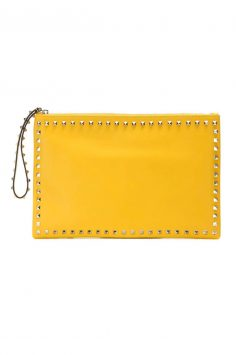 valentino leather clutch