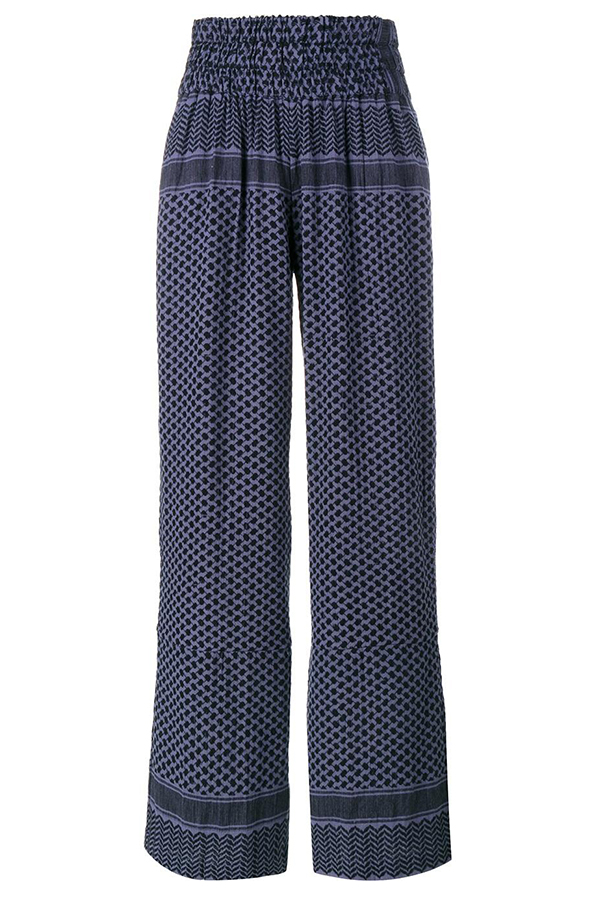 Click to buy Cecilie Copenhagen printed cotton trousers online