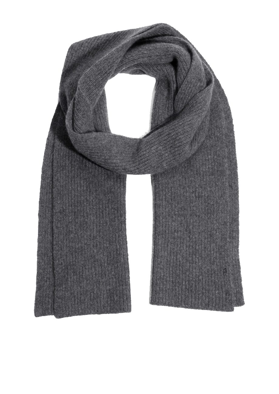 scarf grey white