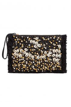 Click to buy Mango Beaded panel clutch online