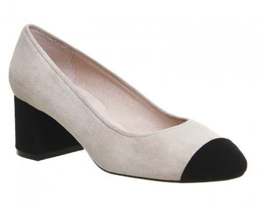 Office Madison Toe Cap Block Heels Suede