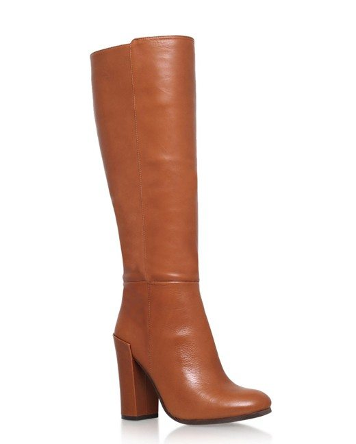 Lonny Brown High Heel Knee Boots-2
