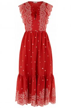 ULLA-JOHNSON-Scarlet-Vera-Embroidered-Cap-Sleeve-Dress