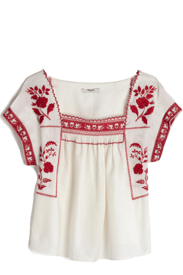 madwell embroidered top