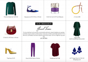 Our Obsession jewel tones