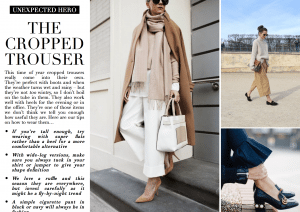 Unexpected Hero: Cropped Trouser