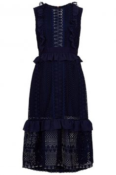 PERSEVERANCE-LONDON-Navy-Stripe-Guipere-Lace-Dress