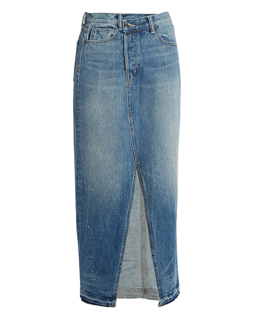 Helmut Lang reconstructured denim skirt