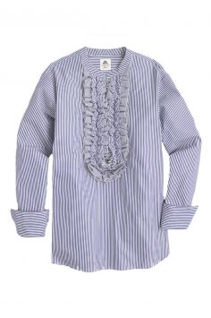 Click button to buy J Crew ruffle shirt