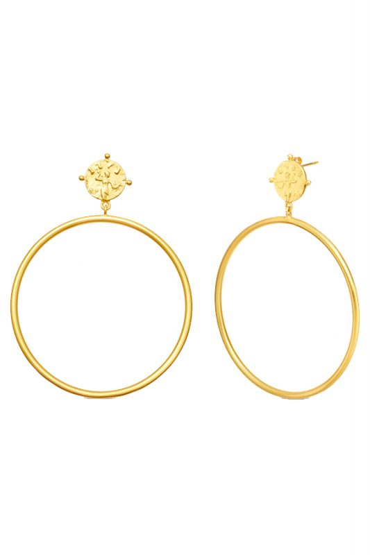 Lucy Williams x Missoma coin hoops