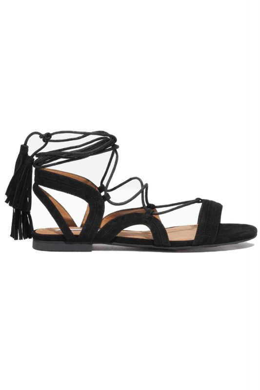 Click to buy Stories Lace Up Tassel Sandal online