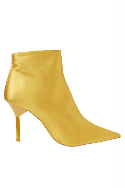 Topshop mustard ankle boots