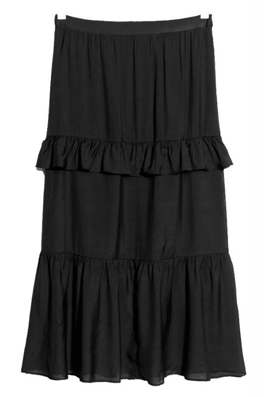 Click to buy black frill skirt
