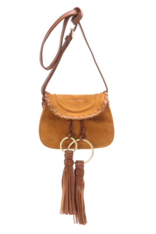 Click to buy See By Chloé Suede crossbody bag