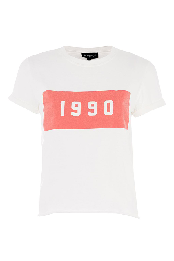 Click to buy Topshop 1990 Motif T-Shirt