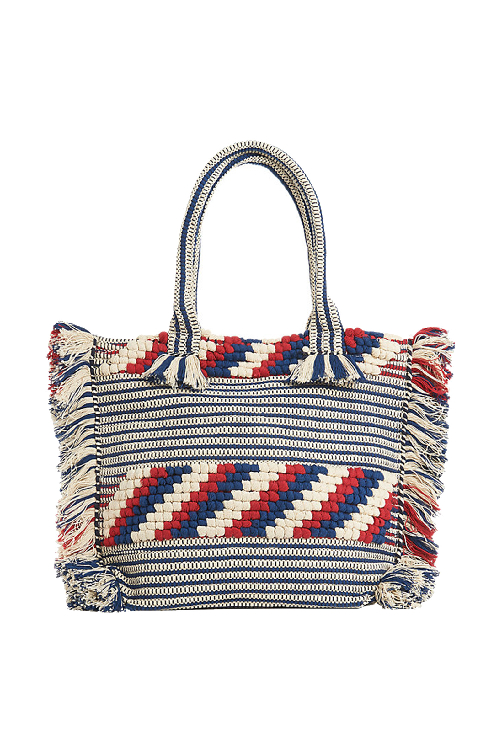 Click to Buy Whistles Woven Fringe Tote Bag