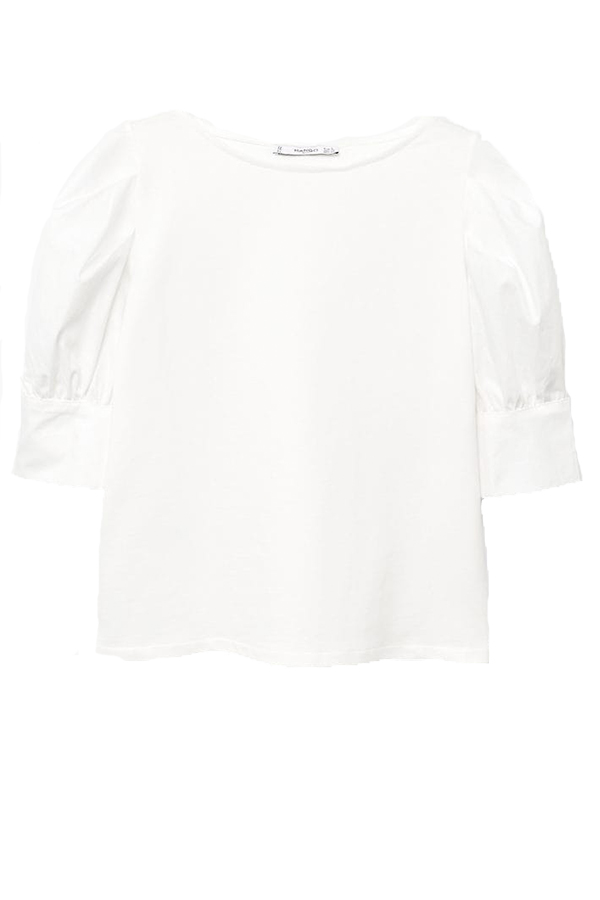Click to buy Mango Puffed sleeves t-shirt online