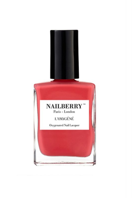 nailberry red coral polish