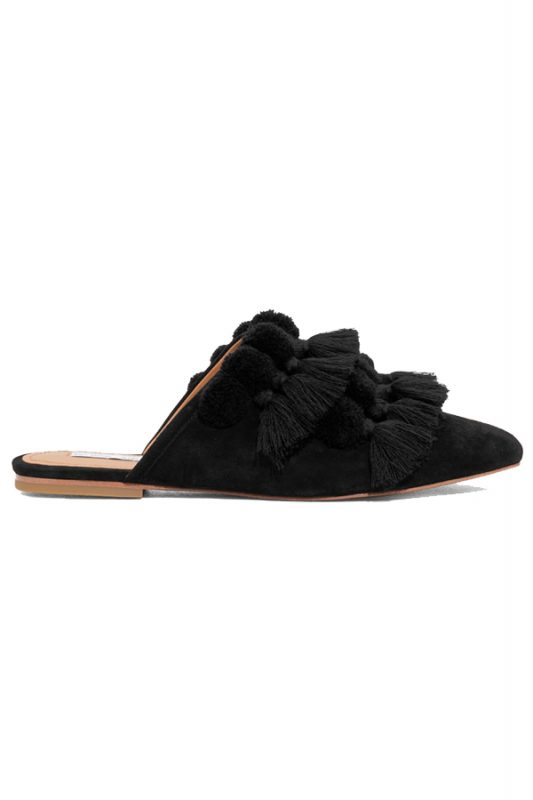 Click to buy Other Stories Tassel Suede Slippers online