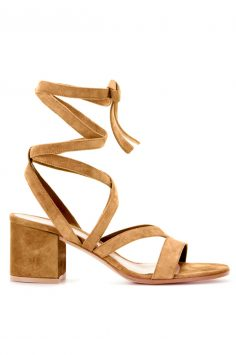 Click to buy Gianvito Rossi Tan Suede Sandals