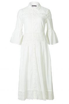 white lace m and s dress