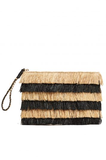 Click to buy Mango raffia fringed clutch