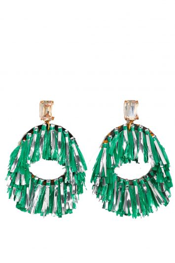 Click to buy J. Crew raffia earrings