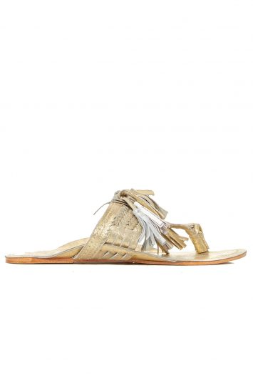 Click to buy Figue gold sandals