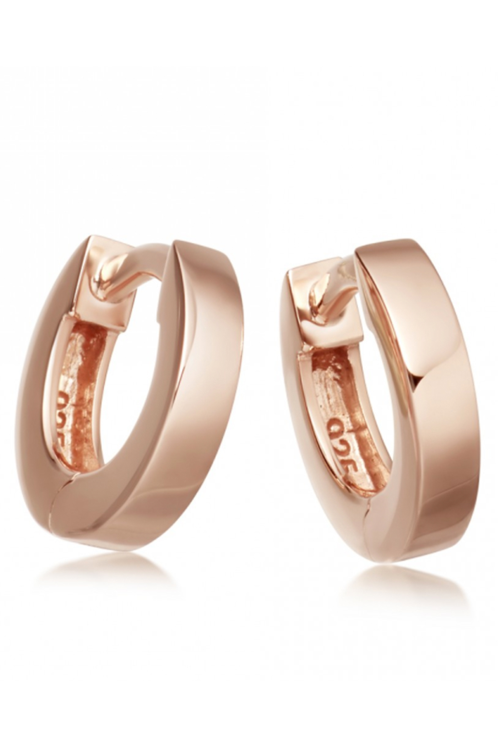 Click to buy Astley Clarke rose gold mini hoops