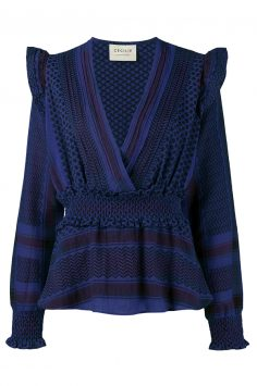 Click to buy Cecilie Copenhagen Crossover Blouse online