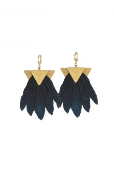Click to buy Katerina Psoma Feather Earrings online