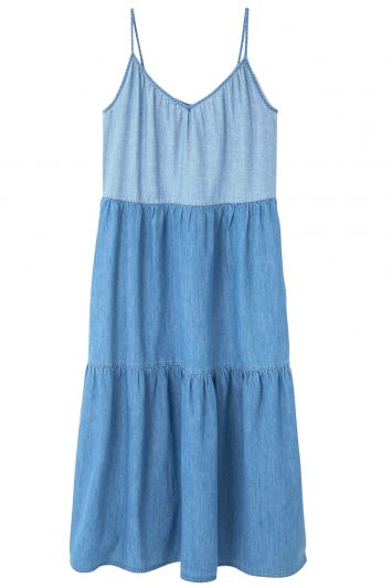 Click to buy Mango tiered cotton denim dress