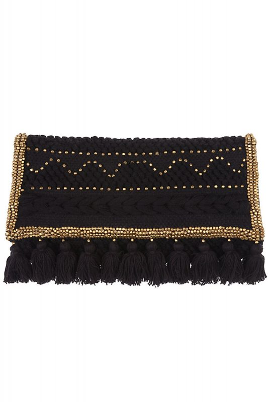 Click to buy And Or Tassel Clutch online