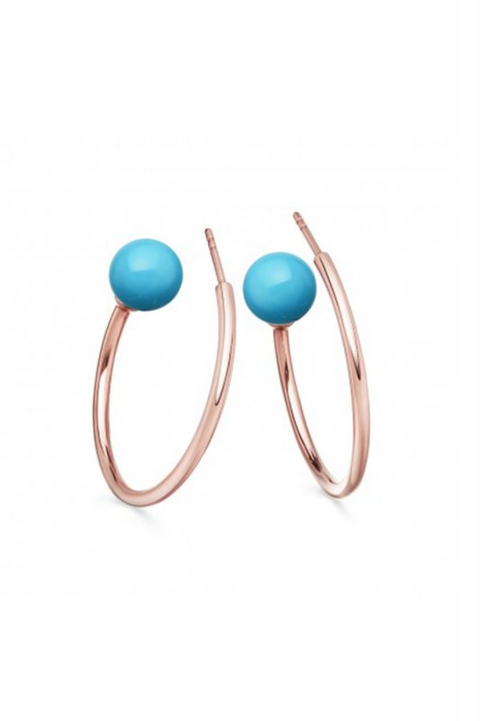 astley clarke blue rose gold hoops