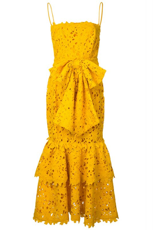 Click to buy Bambah Lace Ruffle Dress online