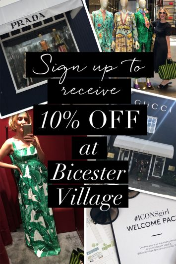 Sign Up to receive exclusive bicester village discount