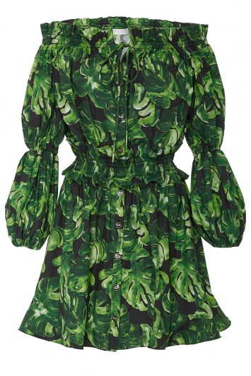 Click to buy Caroline Constas leaf print dress