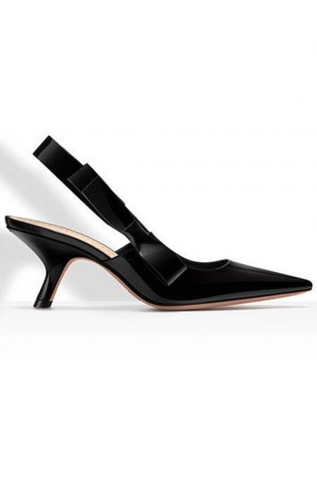 Click to buy Dior Black Patent Slingback online