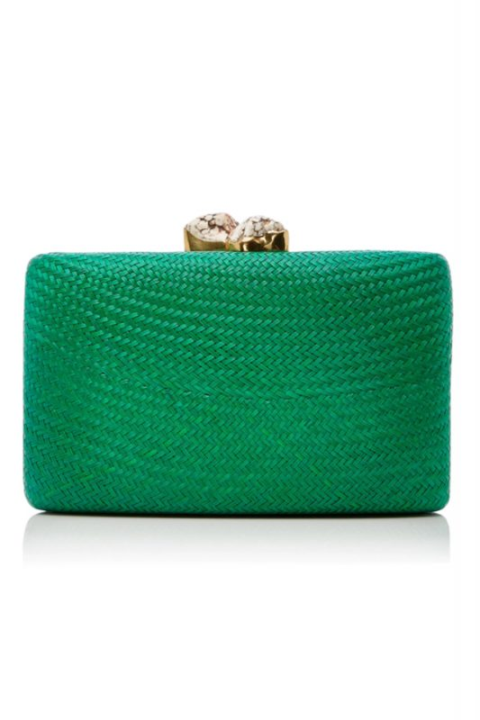 Click to buy Kayu Embellished Woven Clutch