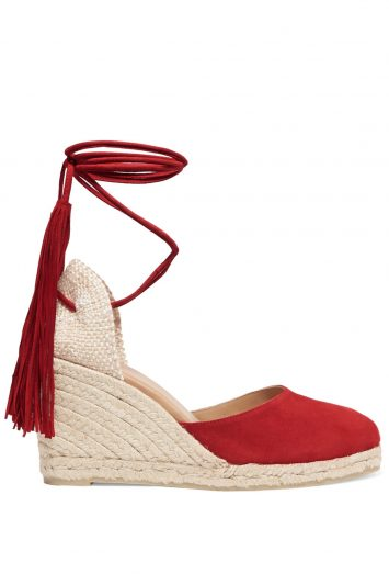 Click to buy Castaner red suede espadrilles