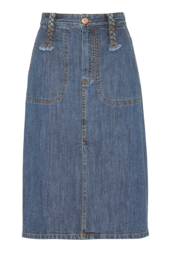 Click to buy See By Chloe Cotton Denim Skirt Online