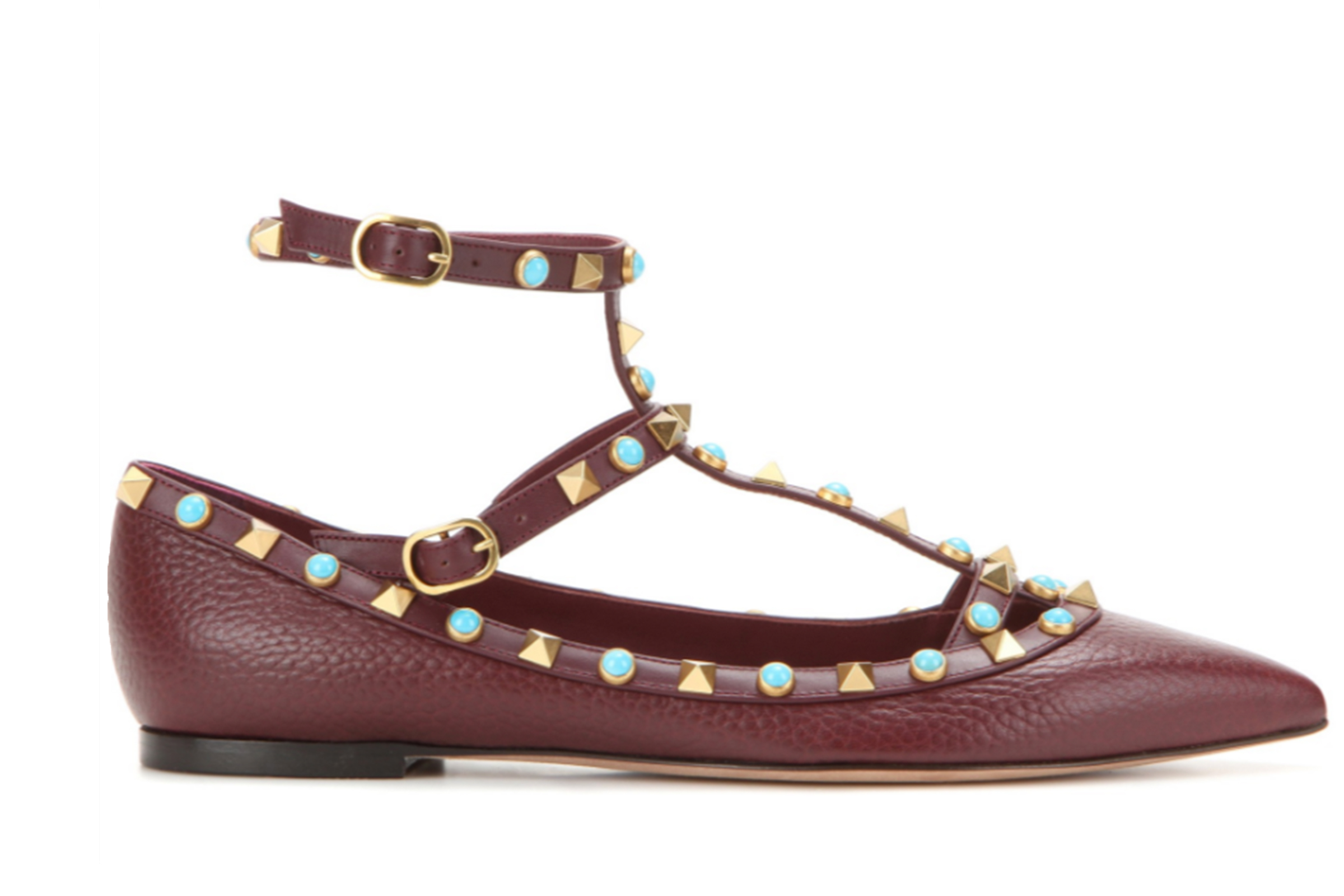 Click to buy Valentino leather ballerinas online