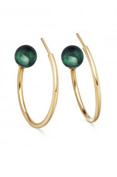 Click to buy Astley Clarke Malachite Hoop online