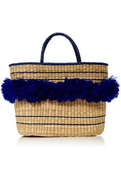 Click to buy Nannacay Navy Fringed Tote online